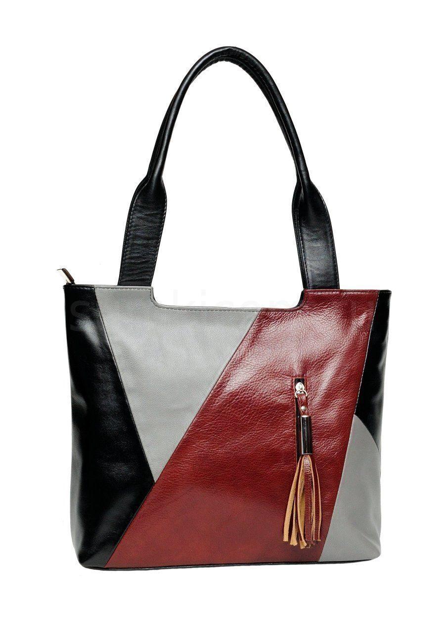 40f4e44a4562 Черная кожаная сумка, с декором Сумки фабрики Александр архив ...
