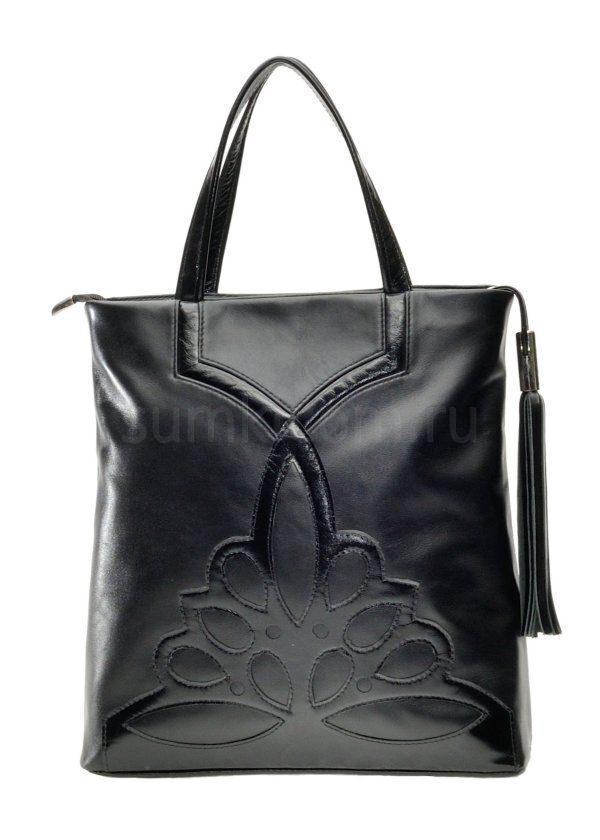 1b1a96323c6f Деловая женская кожаная сумка, цвет чёрный Сумки фабрики Александр ...