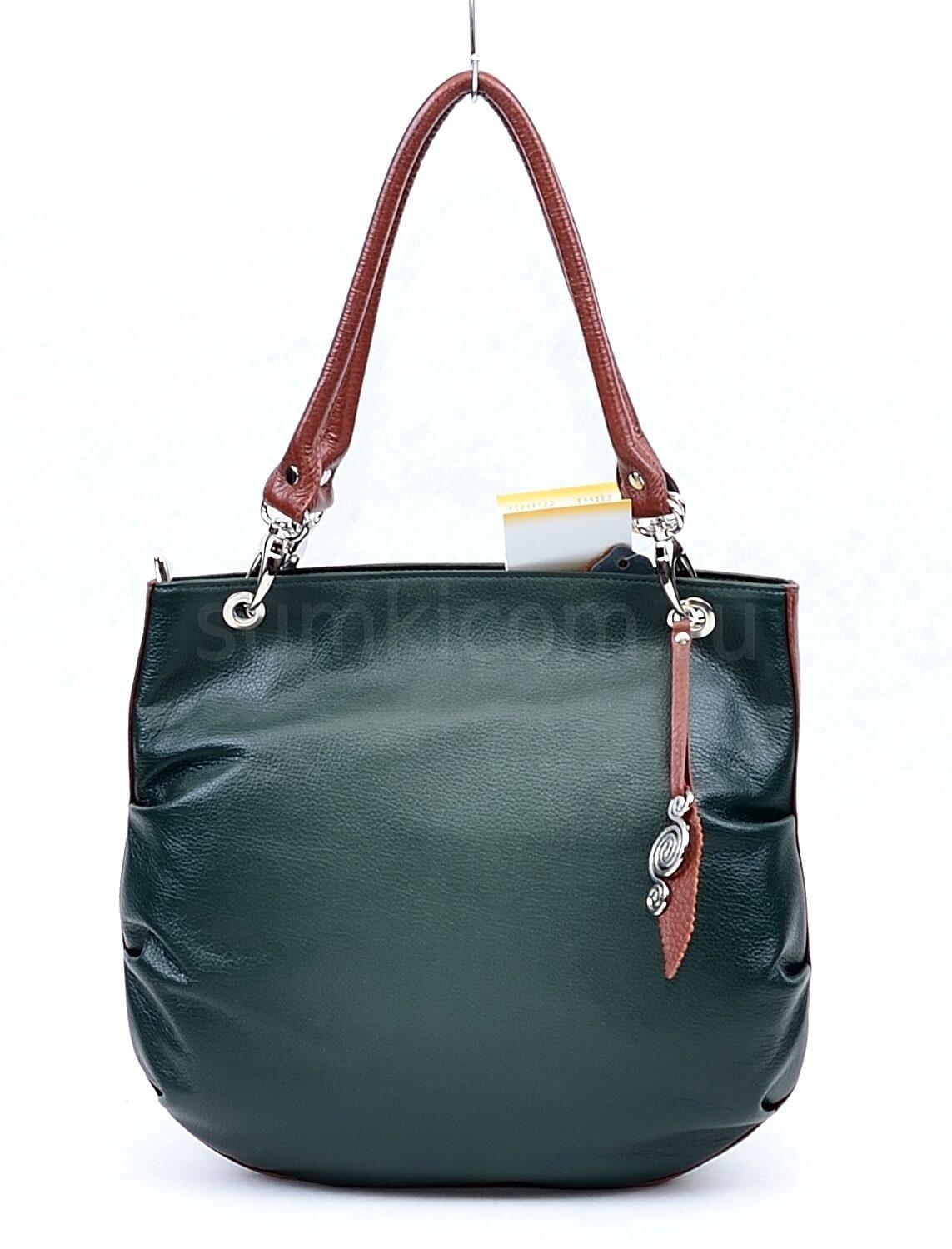 97096e5f09ff Зеленая сумка с коричневыми ручками Сумки фабрики Александр архив ...